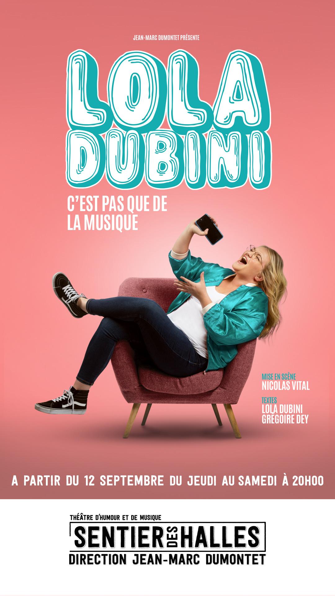 Lola Dubini Le Sentier des Halles Affiche